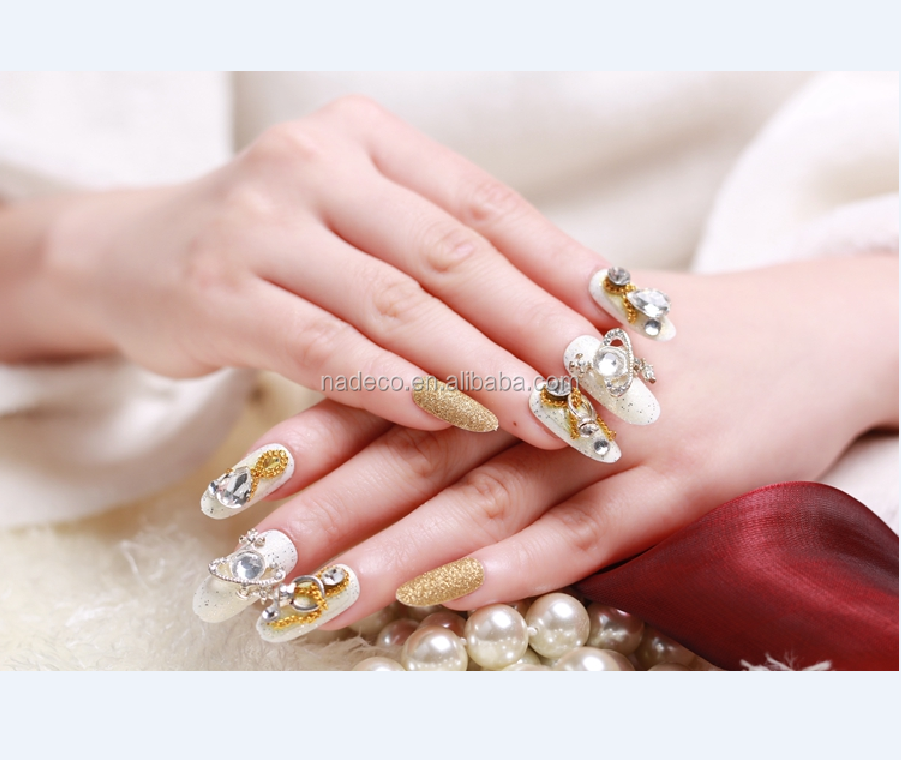 Nadeco Hot Sell Good Quality Crystal Jewelry Girl Wedding False Nail Art Tips