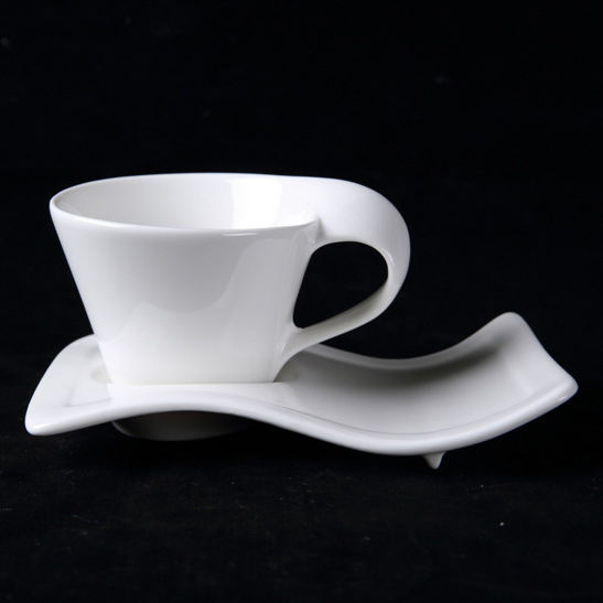 Zogifts bulk <span class=keywords><strong>thee</strong></span> cup Golvend/swirly <span class=keywords><strong>thee</strong></span>/koffie kop en plaat, Porselein set