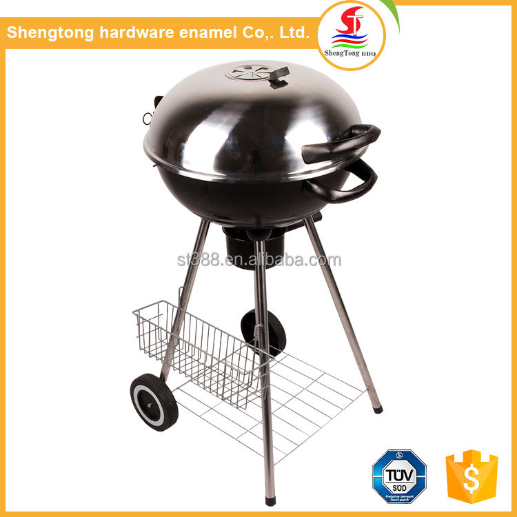 Hot Koop Professionele Barbecue Ketel Grill Draagbare Bbq Met Opslag Mand