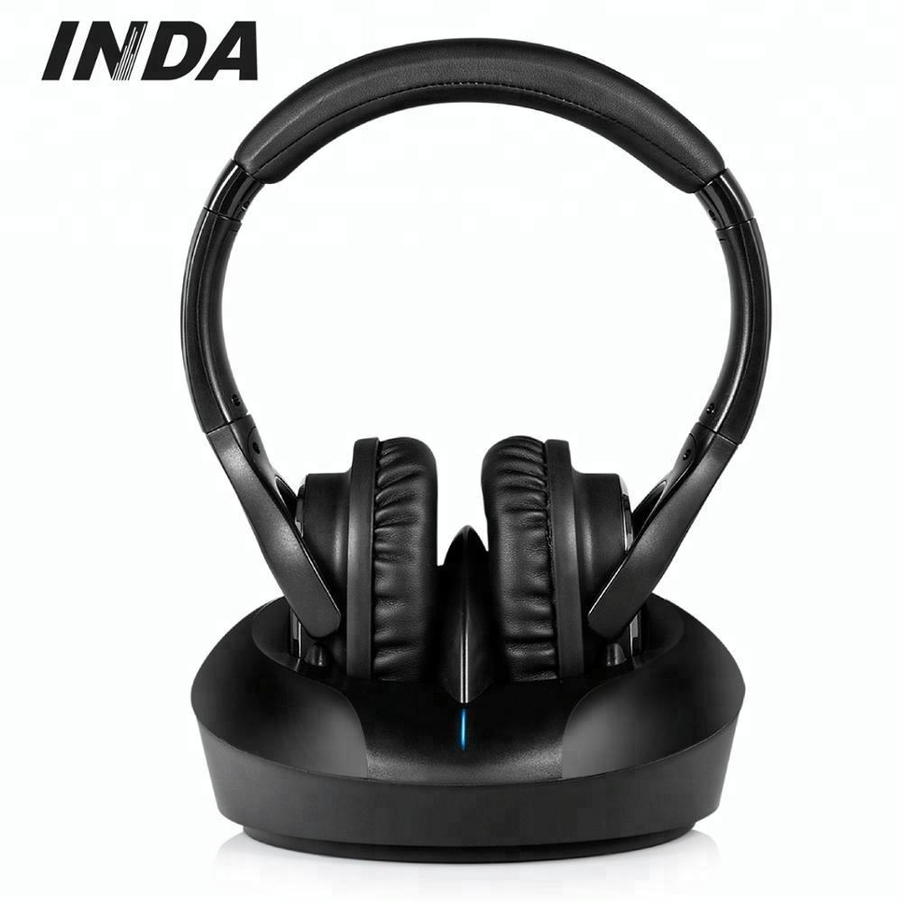 New 5 In 1 Wireless Cordless FM RF Headphones Headset for PC TV Radio