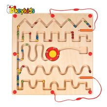 Most popular educational puzzle wooden marble board games for kids W11H063