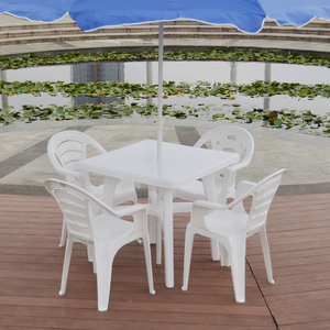 China manufacturer direct price of plastic dining table