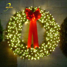 Decorative Round Christmas Wreaths With Led Lights