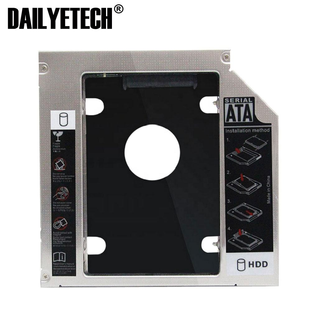 9.5mm Universale SATA 2nd <span class=keywords><strong>HDD</strong></span> <span class=keywords><strong>Caddy</strong></span> Hard Disk SSD + Pannello per DVD-ROM Bay Ottico