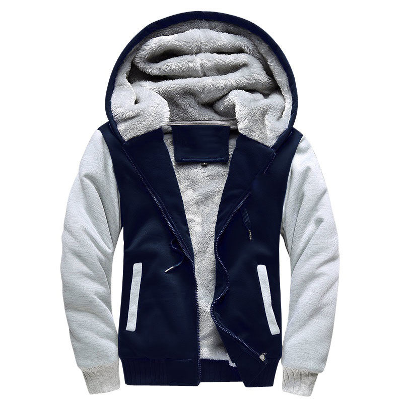 Wholesale Plus Winter Fleece Zipper Men Hoodies High Quality Custom Crew Neck Mens Hoodies Sweatshirts