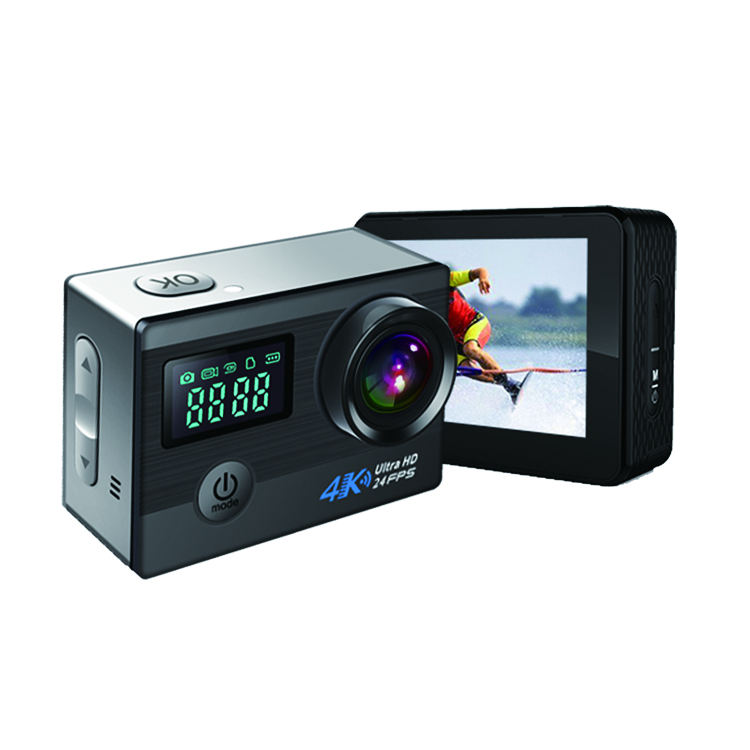 4K 2.0 inch WiFi Allwinner V3 Sports Action Camera with Touch panel and Dual screen