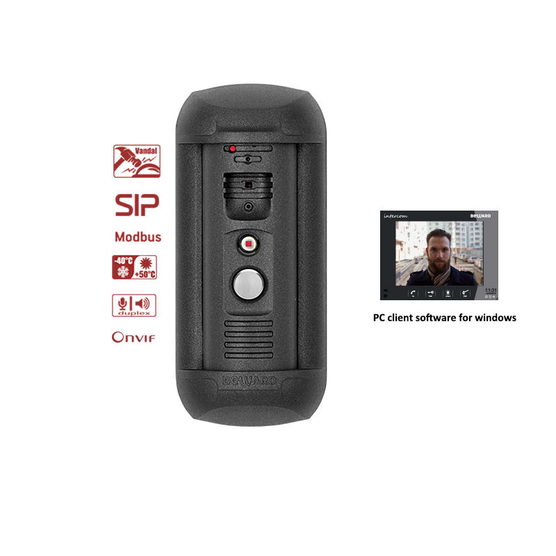 IOS&Android mobile apps Beward Sip Onvif Supported video IP intercom door openiong system by your face and free software