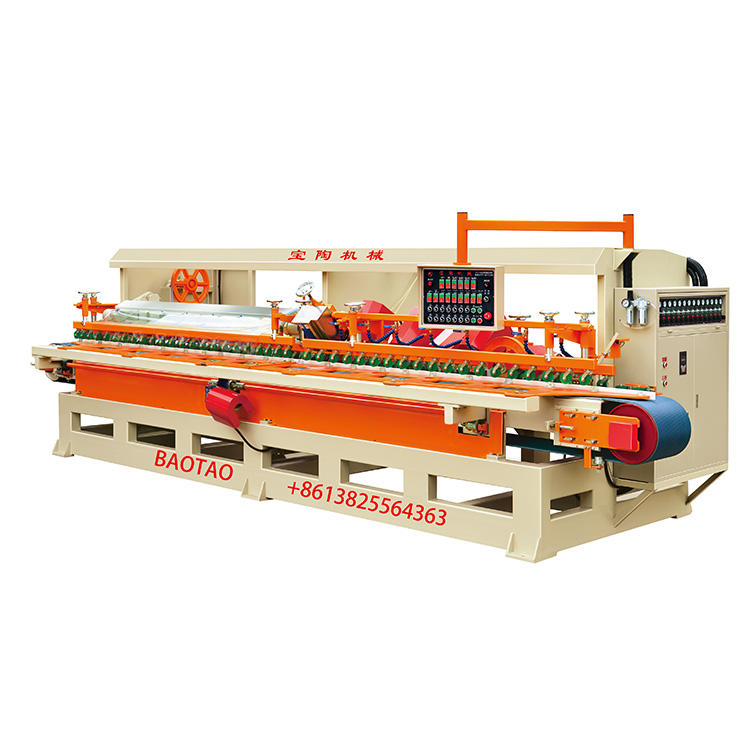 Tile Bullnose Edge Polisher Machine 14 Heads Ceramics Steps