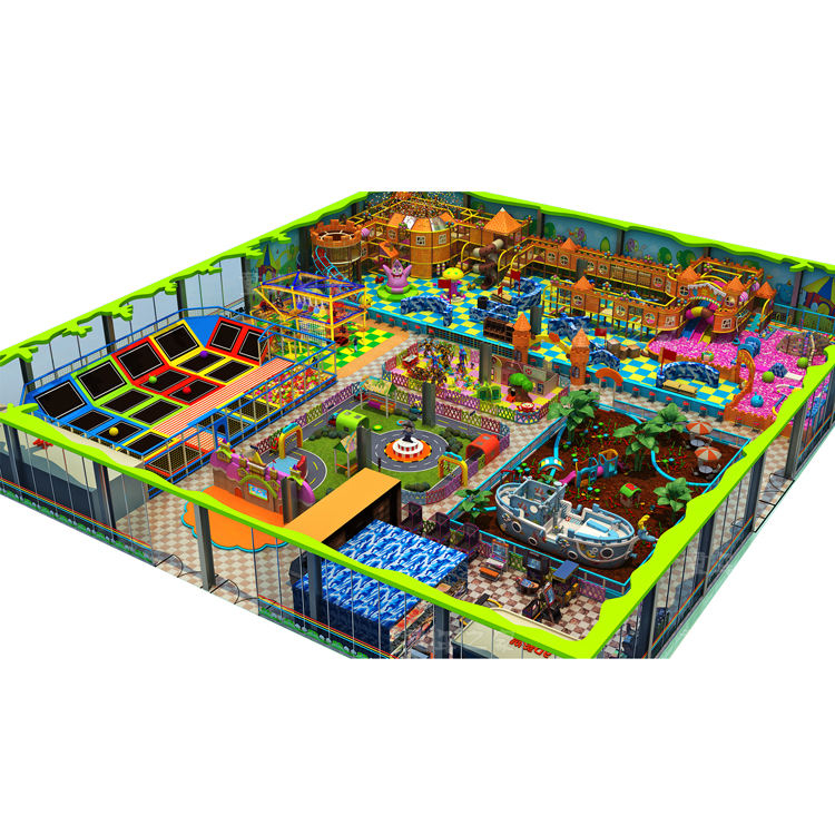 Graphic Customization Playground Indoor Professional Soft Playground Indoor Commercial Kids Indoor Playground With Trampoline Equipment