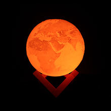 Customized 3D printing home decorative earth night led globe light neon table lamp