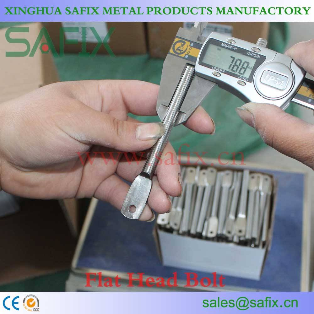 Flat Head Bolt for Stone Cladding System