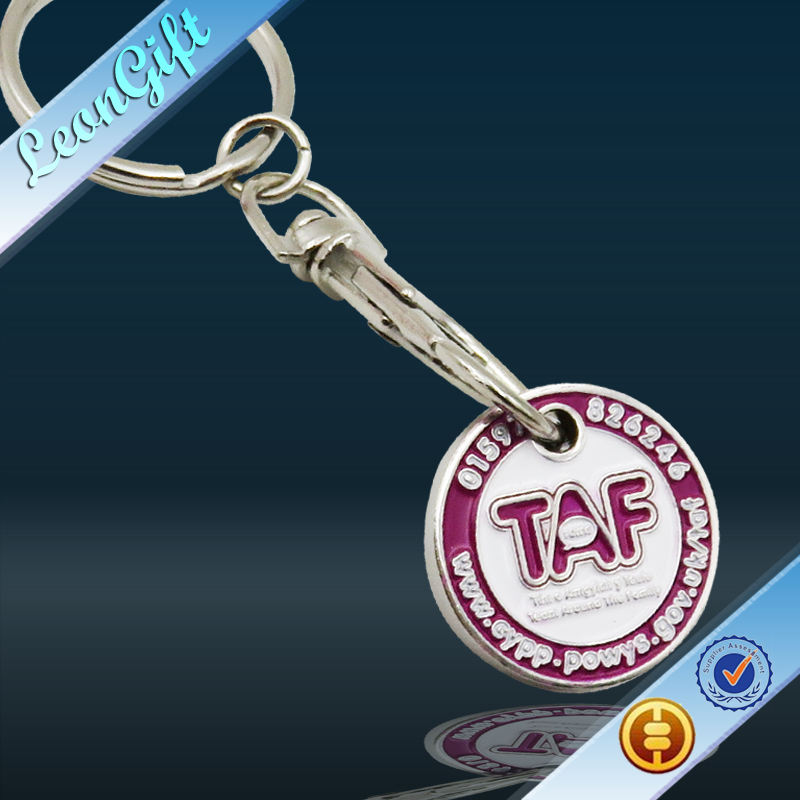 Wonderful Promotional Idea Trolley Coin Keychain and Keyring for Your Easier Shopping