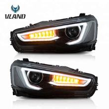 Vland Plug and play car accessories head lamplight LED 2008-2017 EVO/X EX headlights For Mitsubishi Lancer