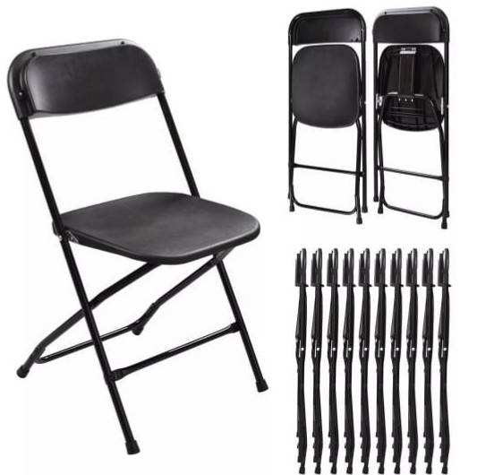 outdoor garden folding plastic chair with metal frame