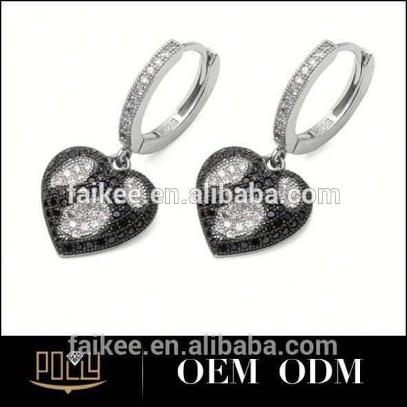 La moda de nueva modo de plata pendiente para mujeres shourouk pendiente