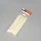 High precision plastic collars white colour self locking nylon cable tie