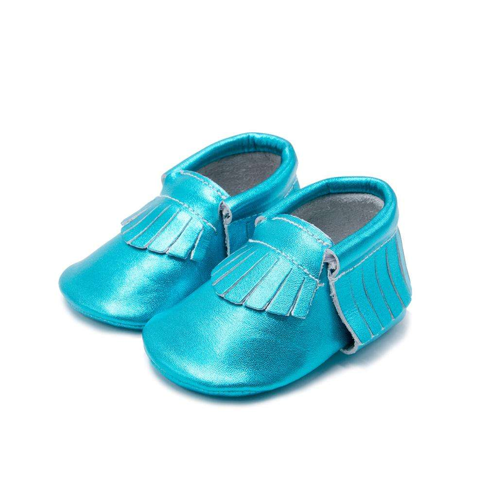 Soft Genuine Leather Baby Shoes Baby Moccasins For Little Girls Boys Cute Bow Infant Shoes Baby First Walkers Boots With Tassel