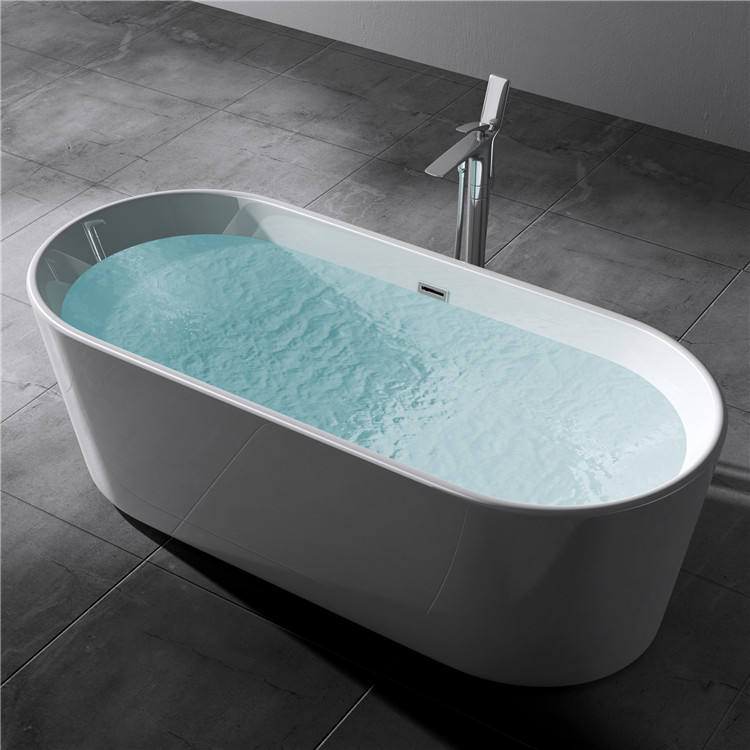 CE massage bathtub, free standing bath,acrylic freestanding bathtub