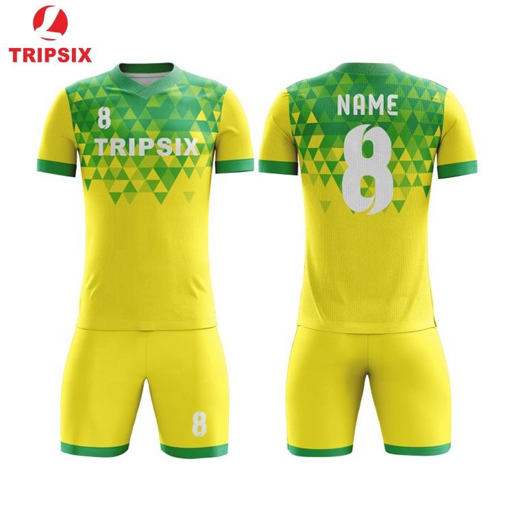 Sell Sublimation Women Yellow Soccer Football Kit