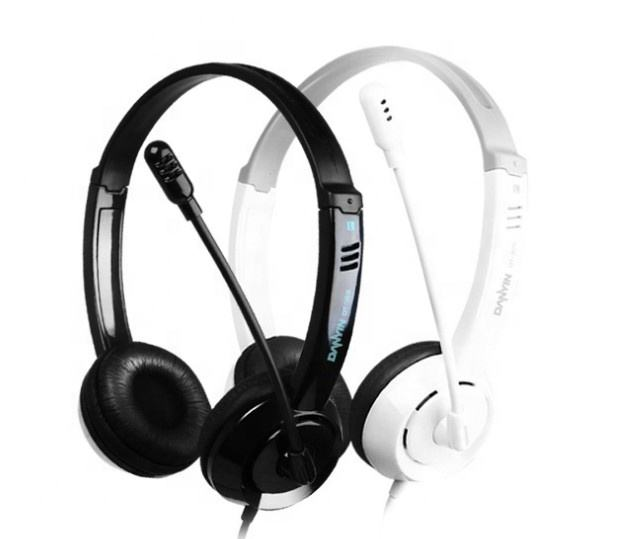 wired headphones Monaural best selling cheap wired call center headset headphone with microphone