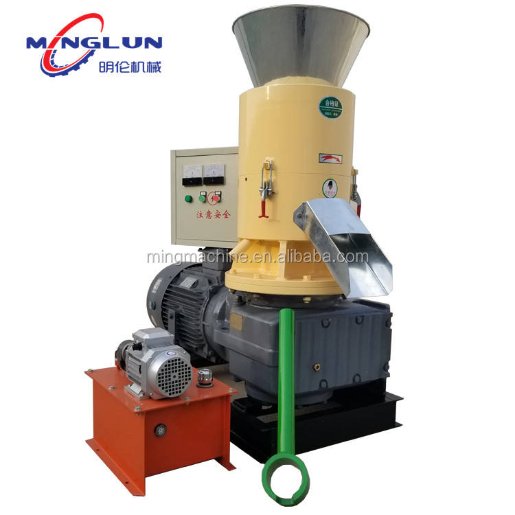 When the production of 300-400kg biomass sawdust pellet machine