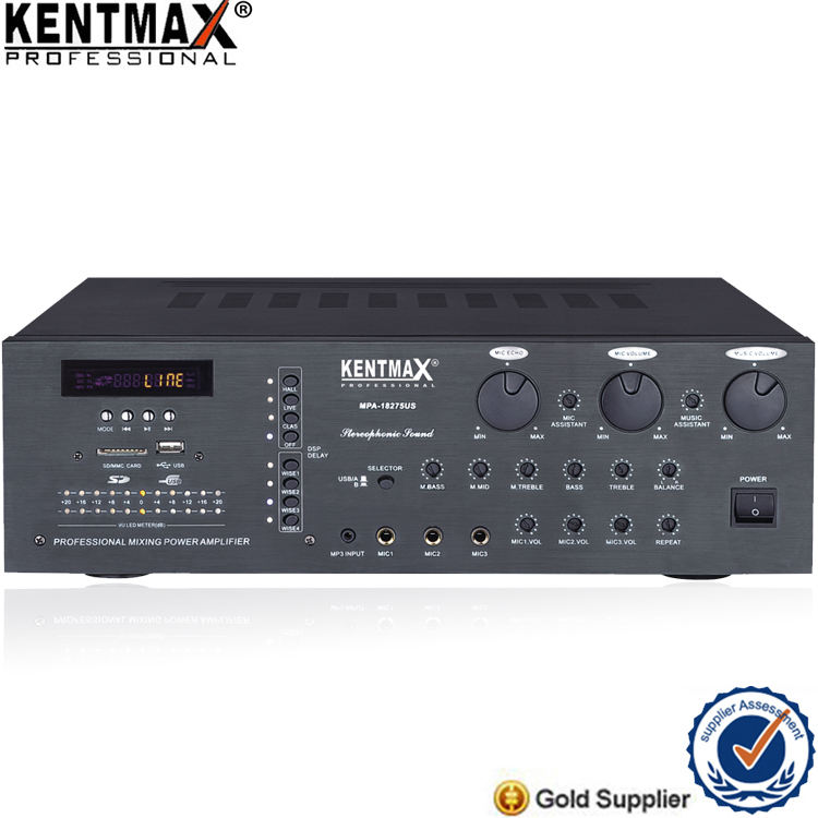 2019 hot sale karaoke stereo mixing power amplifier with USB SD