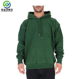 Custom mens green cotton Pullover Hoodies With Hood