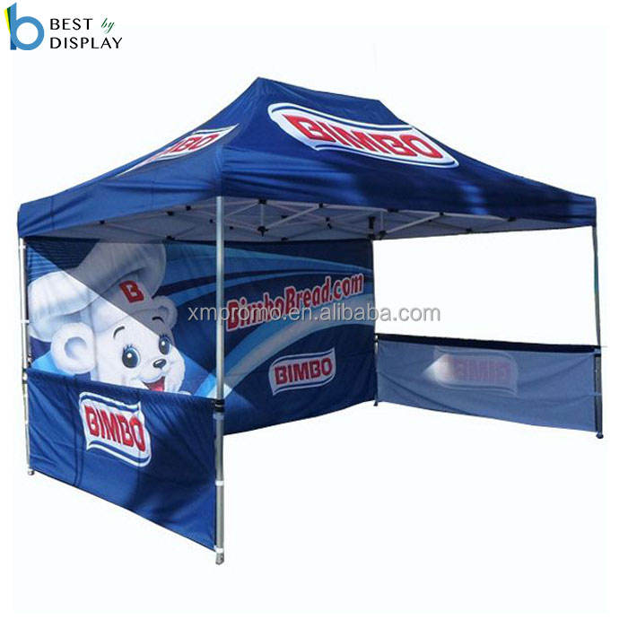Pop up gazebo for promotional event advertising tent