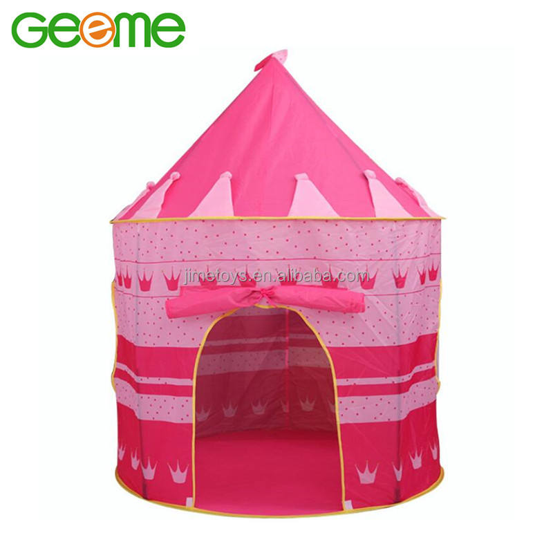 JT010 Portable Folding House Polyester Children Castle Play Tent