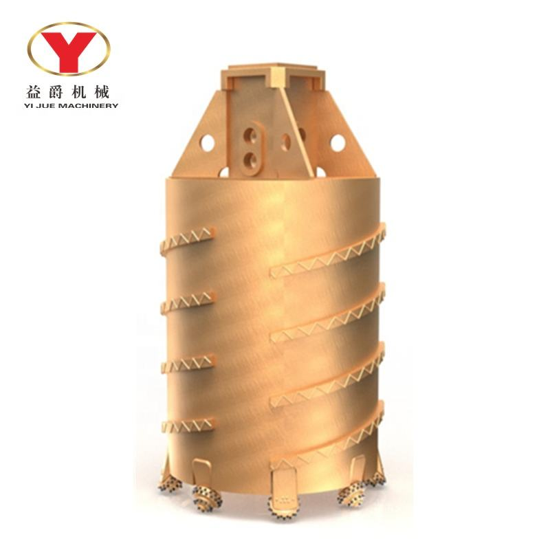 Rotary Rock Drilling Bucket Core Barrel with Roller Bit for Piling Rig
