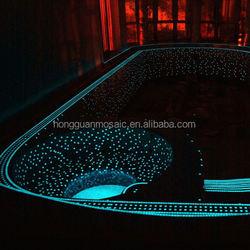 glass mosaic glow in light swimming pool tile