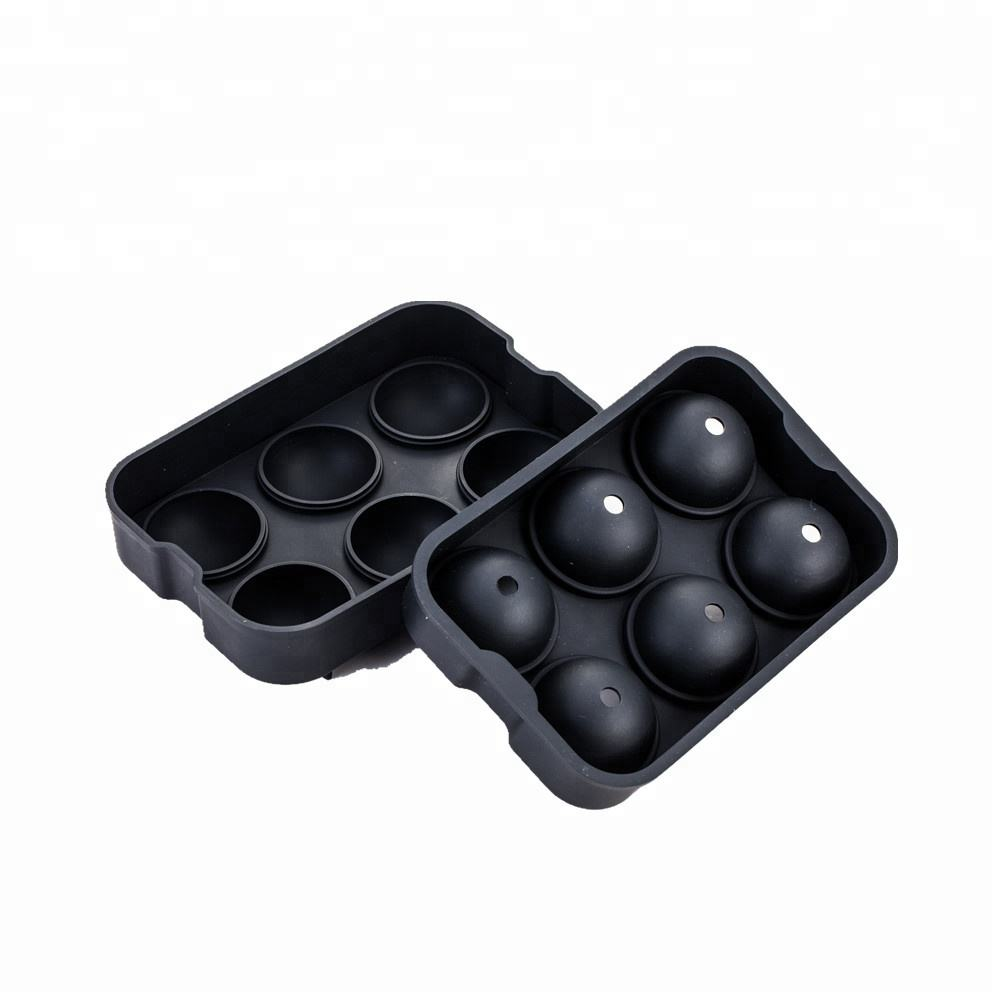 2019 New High Quality 6 Cavity Ball Shape Silicone Ice Cube Tray / Silicone Ball Shape Ice Cube Tray Mold/Silicon Ice Ball Mould