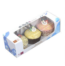 SENCAI cheaper custom printing fancy cake and cupcake bouquet paper box with pvc window