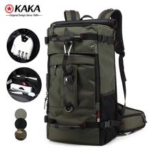 free lock guangzhou kaka 40l 3 way mens custom waterproof backpack bag travelling backpack for men