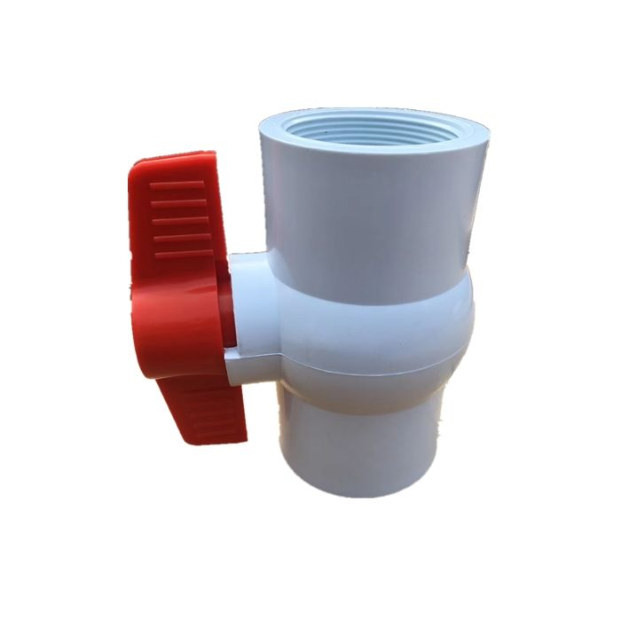 "Manual Valve Fast Delivery White Socket Screw Manual 1/2""-4"" Compact Pvc Ball Valve"