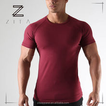 Custom Men Gym Clothing Sport Training Wear Wholesale Dry Fit Muscle Workout T Shirts