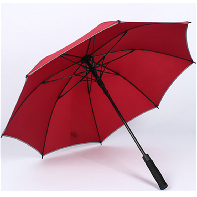 Semi-automatic fiber glass rib golf umbrella reflective