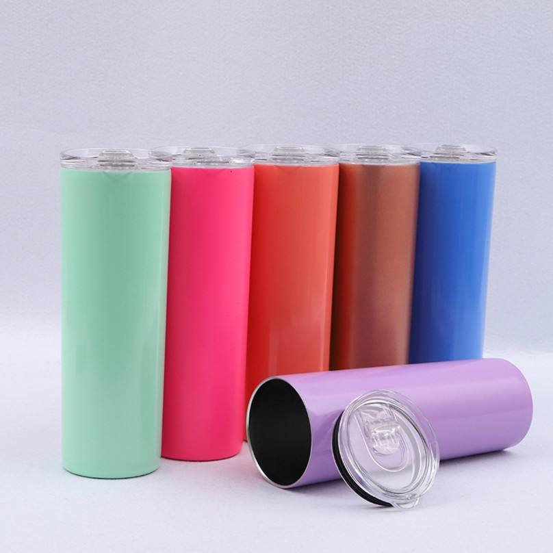 OEM available factory supply double wall insulated stainless steel slim tumbler