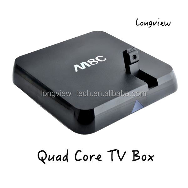 Amlogic S802 M8C Android Quad Core Android 4.4 4 K Smart Box XBMC Streaming Media Player con 5MP Videocamera