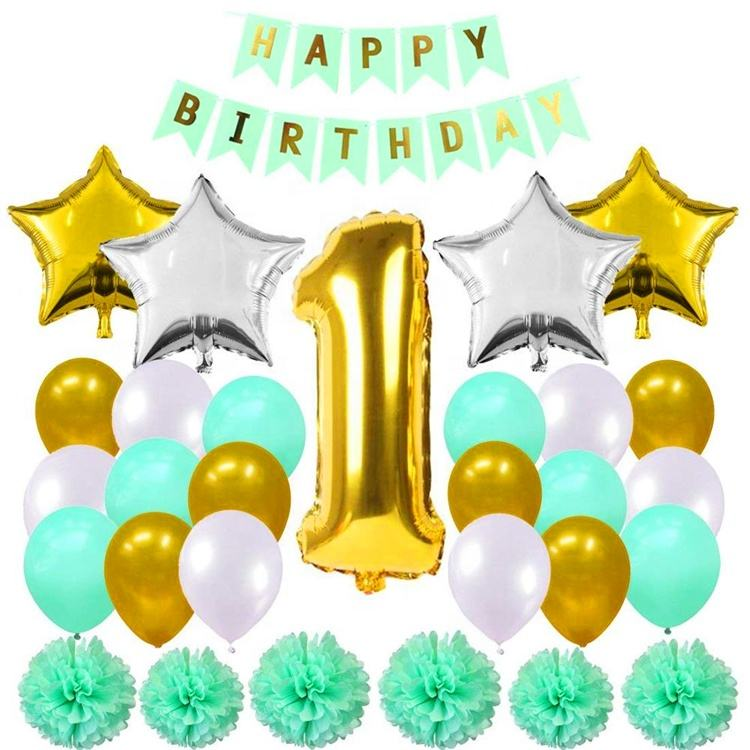 Wholesale Balloons Happy Birthday 1 st Birthday Balloon Party Decorations