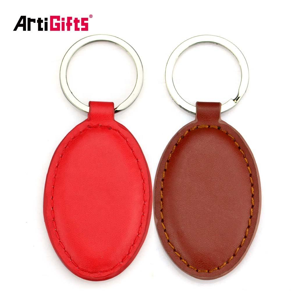 Personalised custom engraved designer oval leather car blank keyrings for men