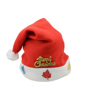 Wholesale decorated dancing christmas santa hat