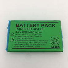 850mAh 3.7V Rechargeable Li-ion Battery Pack for GBA SP Battery for Nintendo Gameboy Advance SP