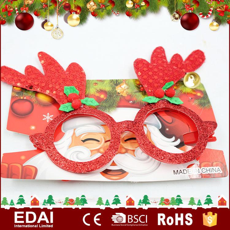 Nouveauté de noël lunettes <span class=keywords><strong>Bois</strong></span> De Noël Lunettes de noël lunettes décoration