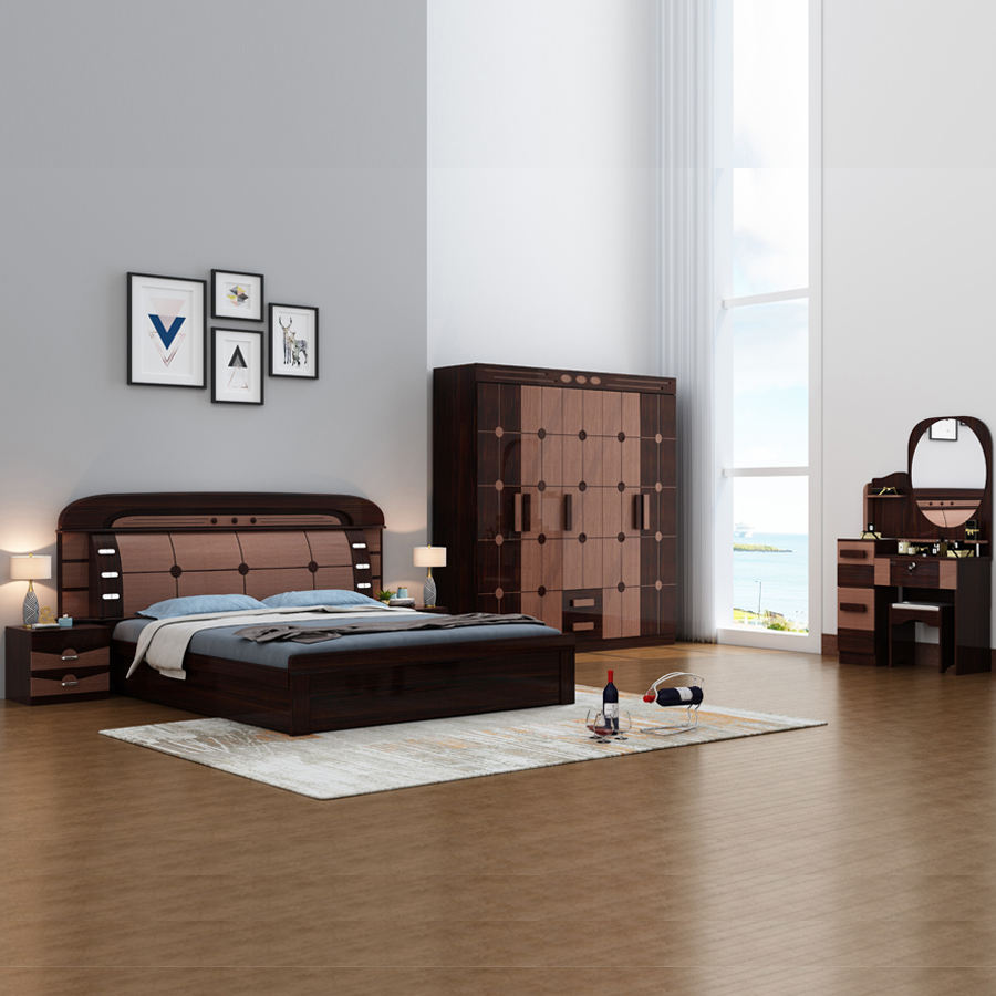 MDF Home Furniture 1.5/1.8 Meter Bed Nightstands bed room furniture bedroom set