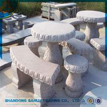outdoor garden stone tables and benches