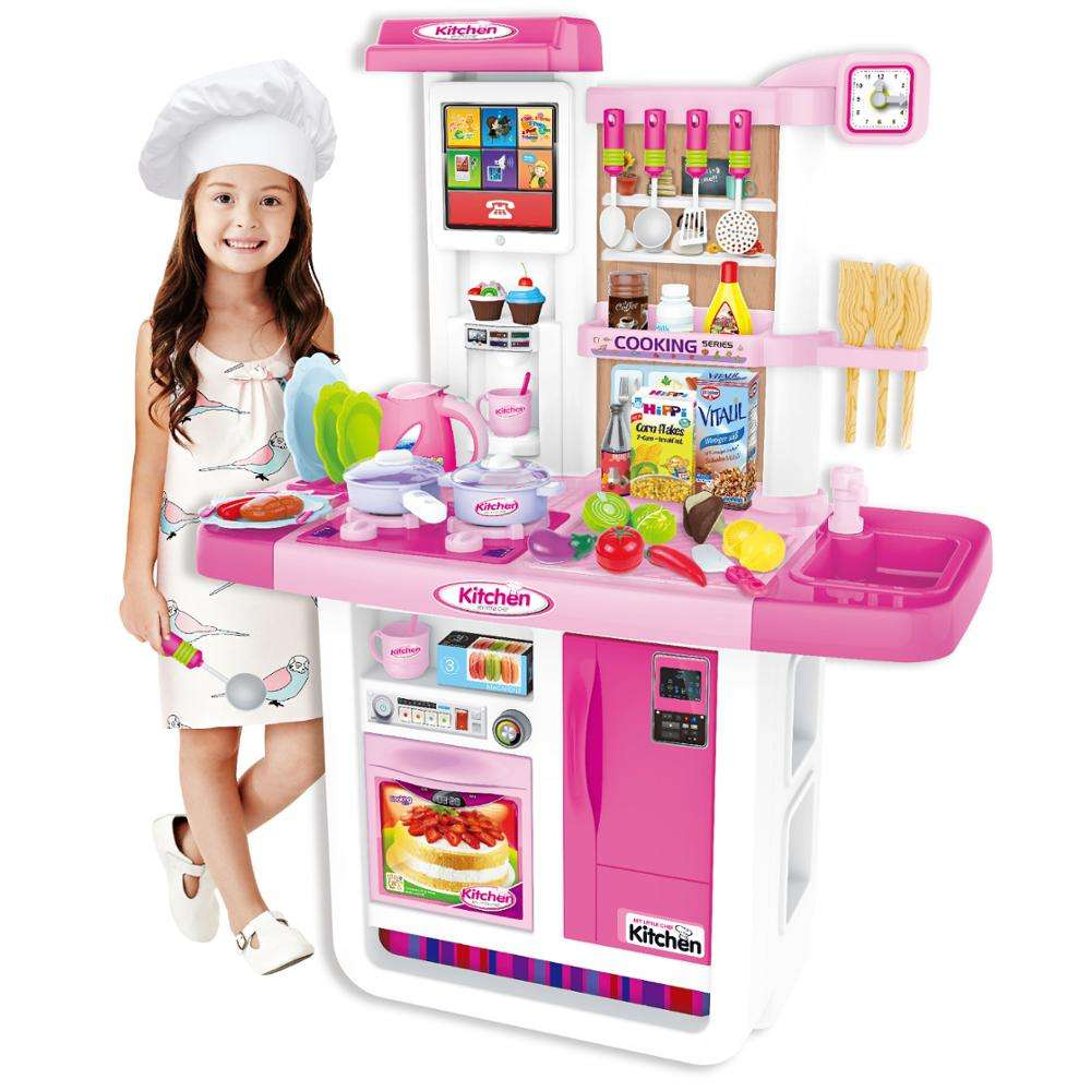 Kids kitchen toys cute funny real big kitchen children cooking play toy