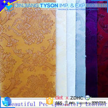 Embossed 1.1mm artificial pvc upholstery leather for car seat