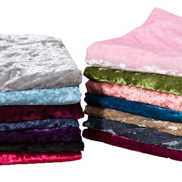 Polyester Spandex Ice Stretch Velvet Korean Crushed Velvet Fabric