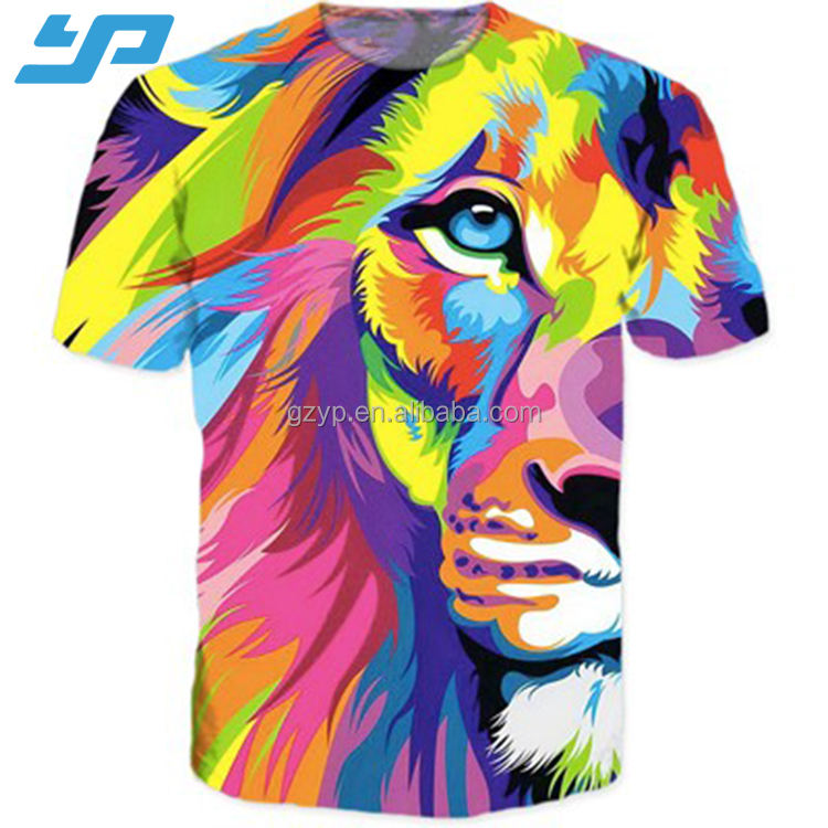 2020 custom 100% Polyester Digital tshirt 3d sublimation printing shirts for men wholesale